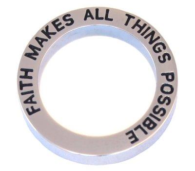 Floating locket  discs Memory locket open disk faith zilverkleurig large