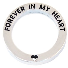 Floating locket  discs Memory locket open disk forever in my heart zilverkleurig large