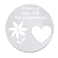 Floating locket  discs Memory locket ontwerp je eigen disk zilverkleurig large