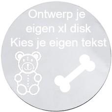 Floating locket  discs Memory locket ontwerp je eigen disk zilverkleurig XL