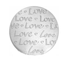 Floating locket  discs Memory locket disk love handgeschreven large zilverkleurig