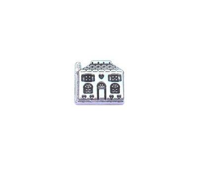 Floating Charms Floating charm huis zilverkleurig voor de memory locket