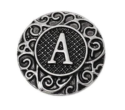 Clicks en Chunks | Click letter A zilverkleurig voor clicks sieraden