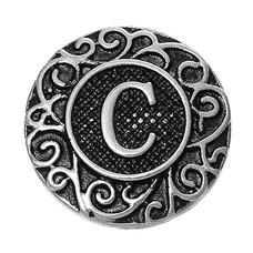Clicks en Chunks | Click letter C zilverkleurig