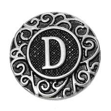 Clicks en Chunks | Click letter D zilverkleurig