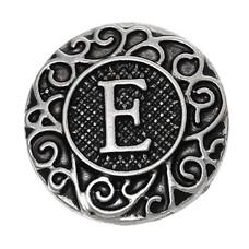 Clicks en Chunks | Click letter E zilverkleurig