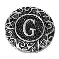 Clicks en Chunks | Click letter G zilverkleurig