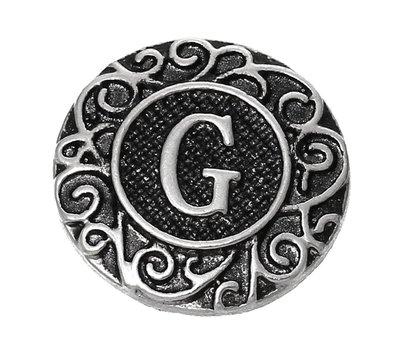 Clicks en Chunks | Click letter G zilverkleurig voor clicks sieraden