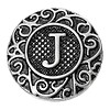 Clicks en Chunks | Click letter J zilverkleurig voor clicks sieraden