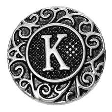 Clicks en Chunks | Click letter K zilverkleurig