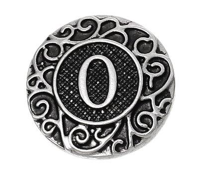 Clicks en Chunks | Click letter O zilverkleurig voor clicks sieraden