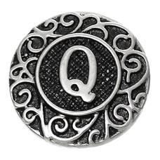 Clicks en Chunks | Click letter Q zilverkleurig
