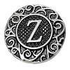 Clicks en Chunks | Click letter Z zilverkleurig voor clicks sieraden