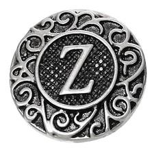 Clicks en Chunks | Click letter Z zilverkleurig