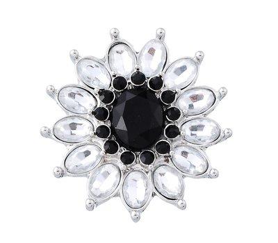 Clicks en Chunks | Click flower zwart wit voor clicks sieraden