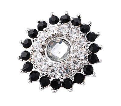 Clicks en Chunks | Click bloem zwart wit voor clicks sieraden