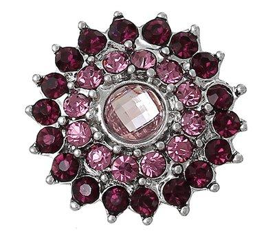 Clicks en Chunks | Click bloem paars roze voor clicks sieraden