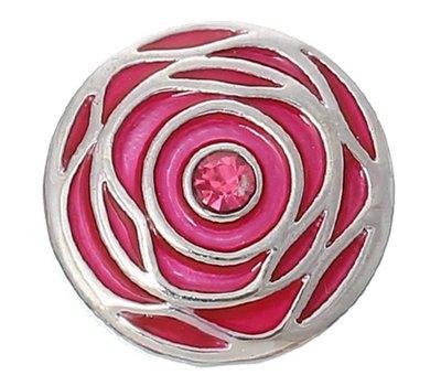 Clicks en Chunks | Click roos zilverkleurig voor clicks sieraden