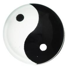 Clicks en Chunks | Click yin yang zilverkleurig