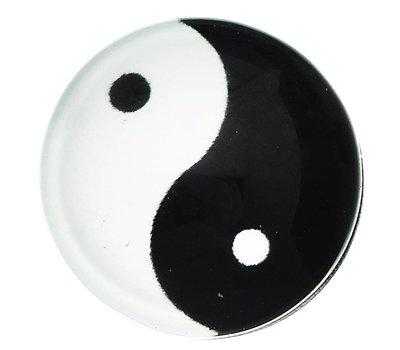 Clicks en Chunks | Click yin yang zilverkleurig voor clicks sieraden