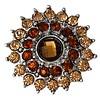 Clicks en Chunks | Click bloem bruin voor clicks sieraden