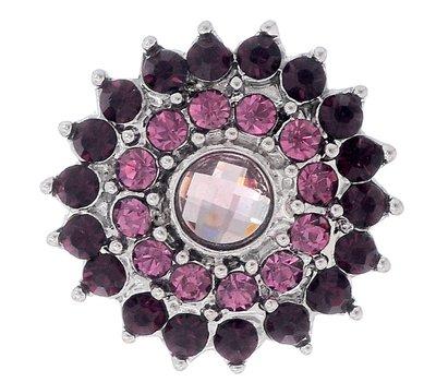 Clicks en Chunks | Click bloem paars voor clicks sieraden