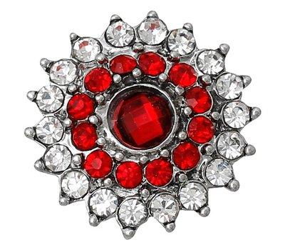 Clicks en Chunks | Click bloem rood voor clicks sieraden