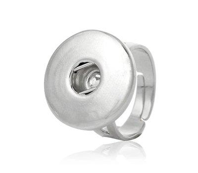 Clicks Sieraden Clicks verstelbare ring zilverkleurig