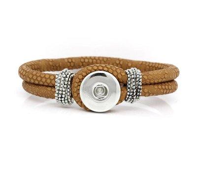 Clicks Sieraden Clicks knoop armband leer bruin
