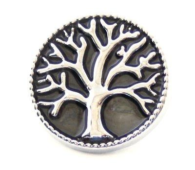 Clicks en Chunks | Click levensboom op zwart voor clicks sieraden