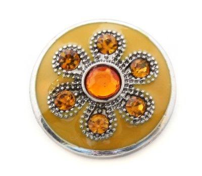Clicks en Chunks | Click oranje prinses bloem voor clicks sieraden