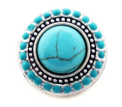 Clicks en Chunks | Click Turquoise steen voor clicks sieraden