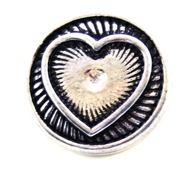 Clicks en Chunks | Click zilverkleurige hart voor clicks sieraden