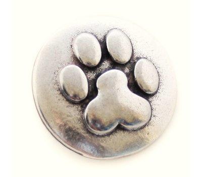 Clicks en Chunks | Click hondenpootje zilverkleurig
