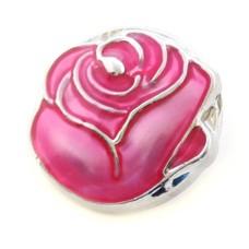 Clicks en Chunks | Click donker roze roos