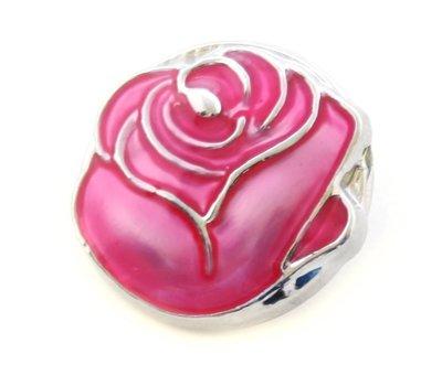 Clicks en Chunks | Click donker roze roos voor clicks sieraden