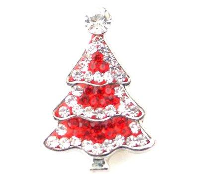 Clicks en Chunks | Click kerstboom rood voor clicks sieraden