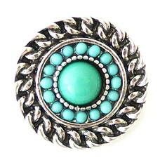 Clicks en Chunks | Click rond turquoise