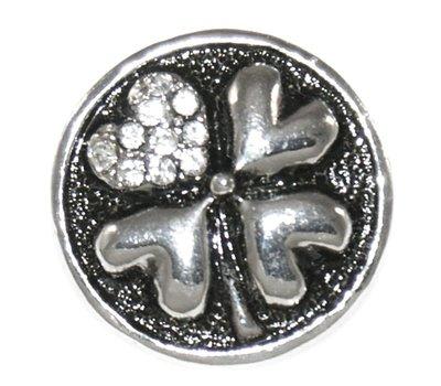 Clicks en Chunks | Click lovely klavertje zilverkleurig voor clicks sieraden