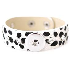 Clicks Sieraden Clicks armband luipaard met strass