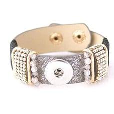 Clicks Sieraden Clicks armband lovely grijs met strass