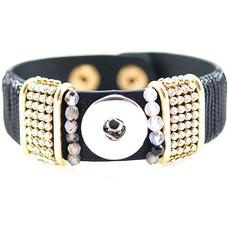 Clicks Sieraden Clicks armband lovely zwart met strass