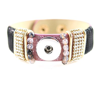 Clicks Sieraden Clicks armband loveley paars met strass
