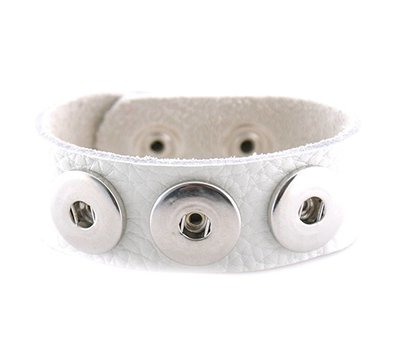 Clicks Sieraden Clicks armband lnubuck leer wit