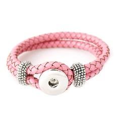 Clicks Sieraden Clicks knoop armband leer roze