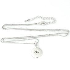 Clicks Sieraden Clicks hanger rond inclusief lange ketting zilverkleurig