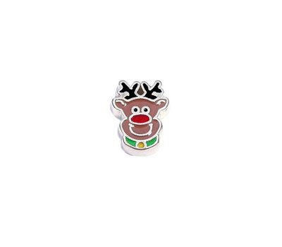 Floating Charms Floating charm Rudolph voor de memory locket