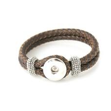 Clicks Sieraden Clicks knoop armband leer donker bruin