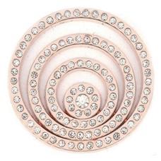Munt voor Muntketting Crystal Cirkels Rose goudkleurig
