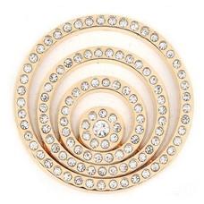Munt voor Muntketting Crystal Cirkels goudkleurig